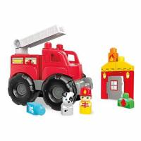 Mega Bloks First Builders Конструктор Пожарная машина Fire Truck Rescue Building Set