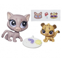 Littlest Pet Shop Семейка пум Pet Pawsabilities Sunny Cougar & Cubby Cougar