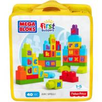 Mega Bloks Конструктор учим алфавит First Builders ABC Spell Playset
