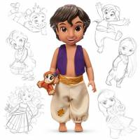 Disney дисней аниматорс Animators' Collection Алладин Aladdin 43см
