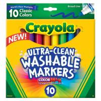 Crayola смываемые маркеры Ultraclean Broadline Classic Washable Markers